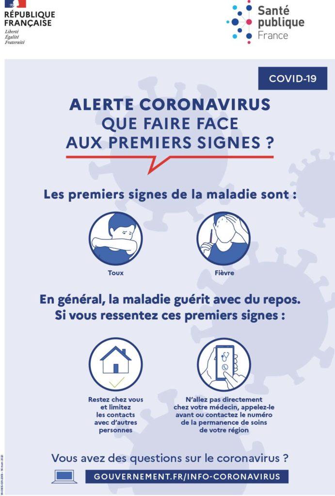 Alerte coronavirus : que faire face aux premiers signes - santé étudiant